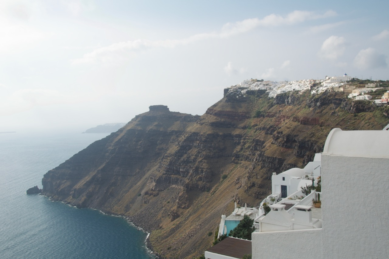 フィロステファーニから見るイア方面の景色