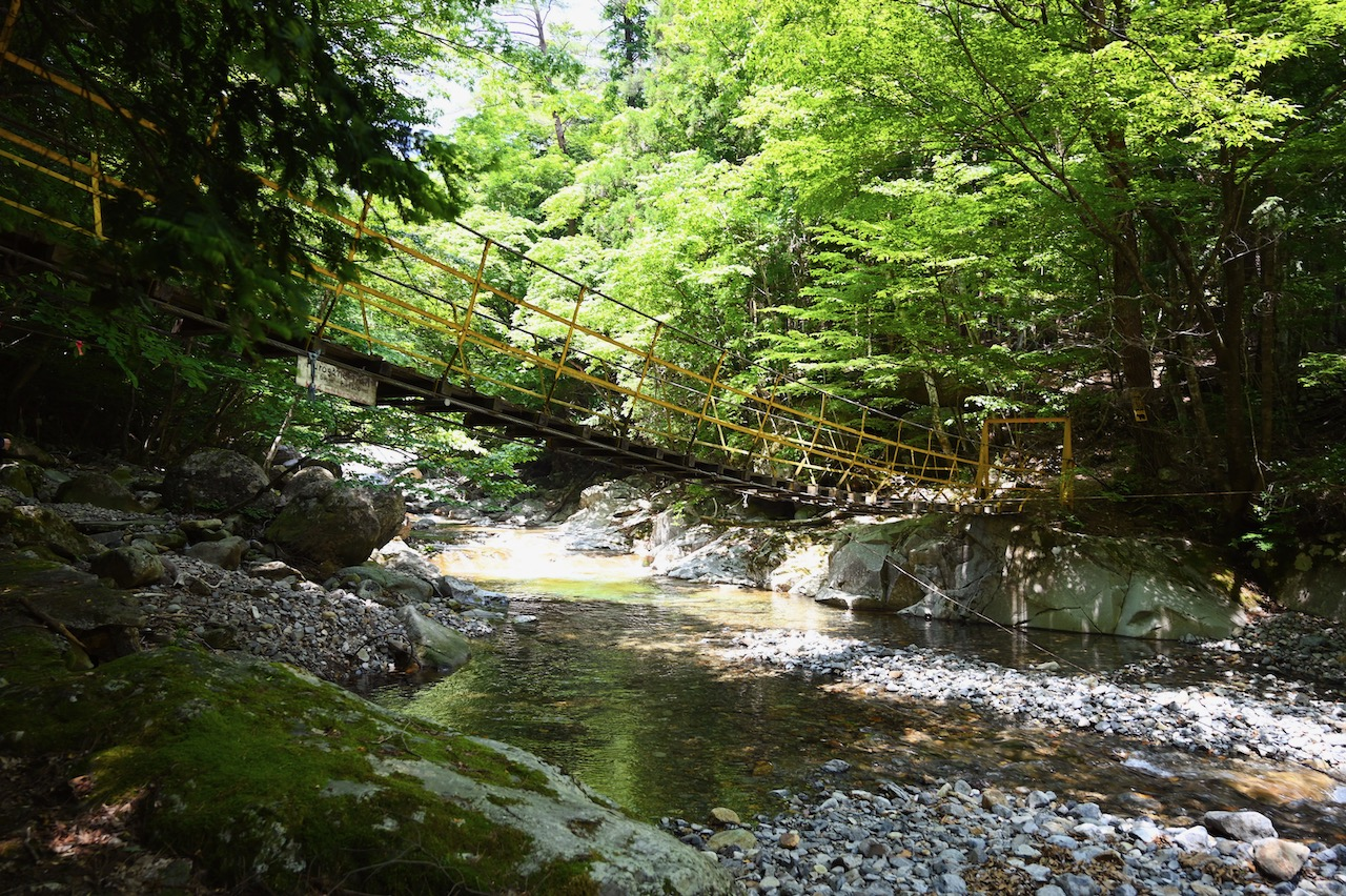 祖母山 吊り橋
