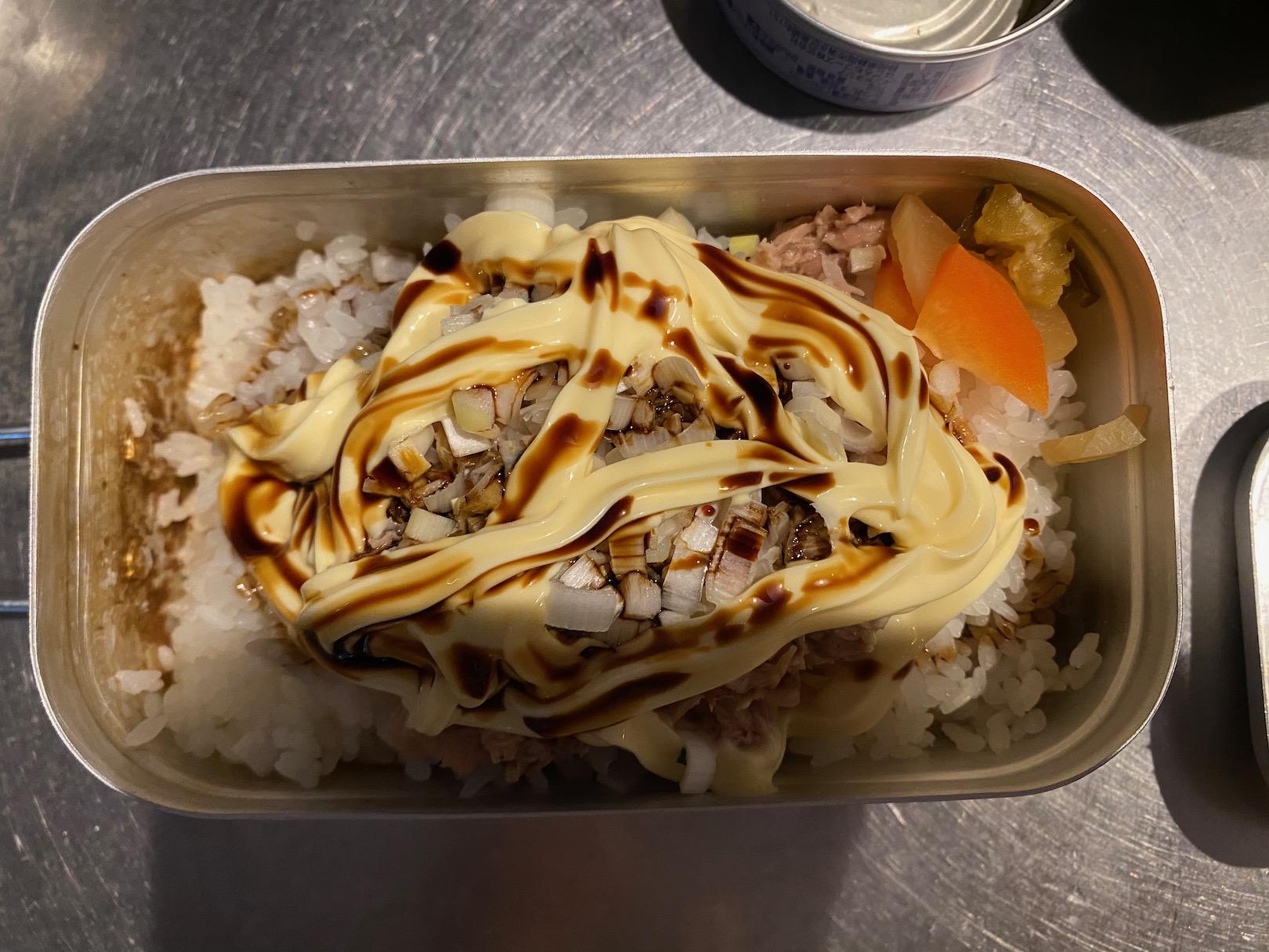 メスティンでツナマヨかけご飯 2