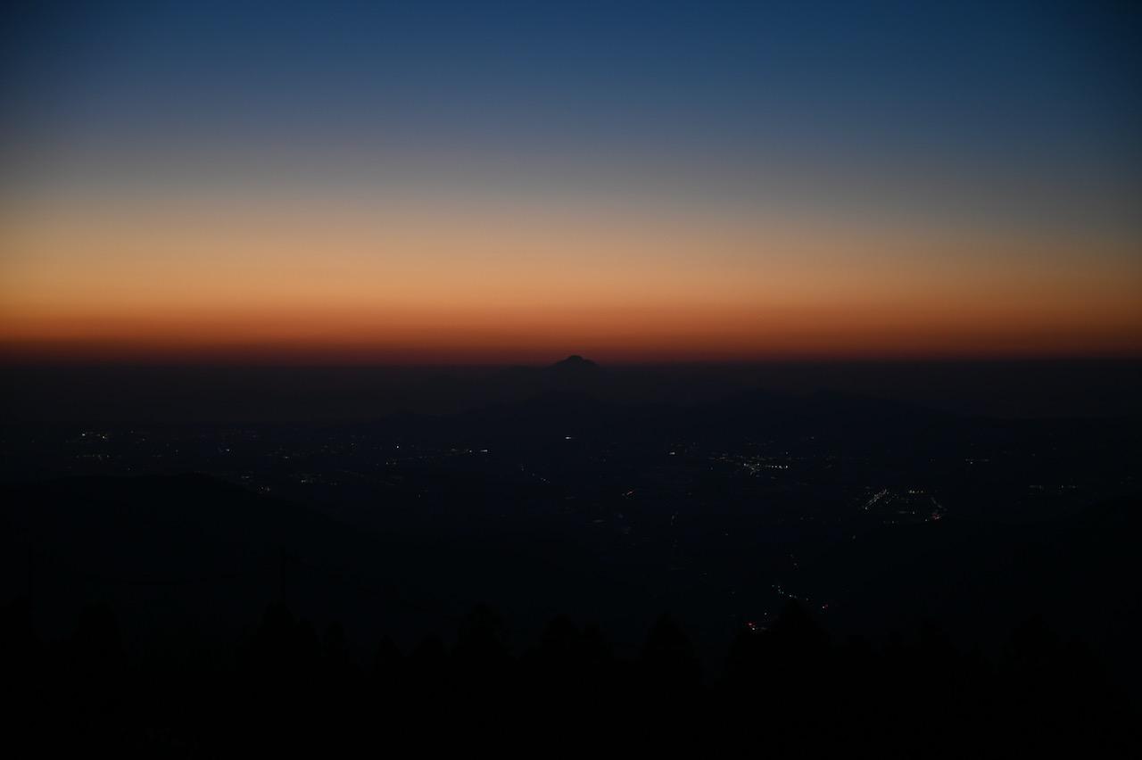 阿蘇山上から望む普賢岳