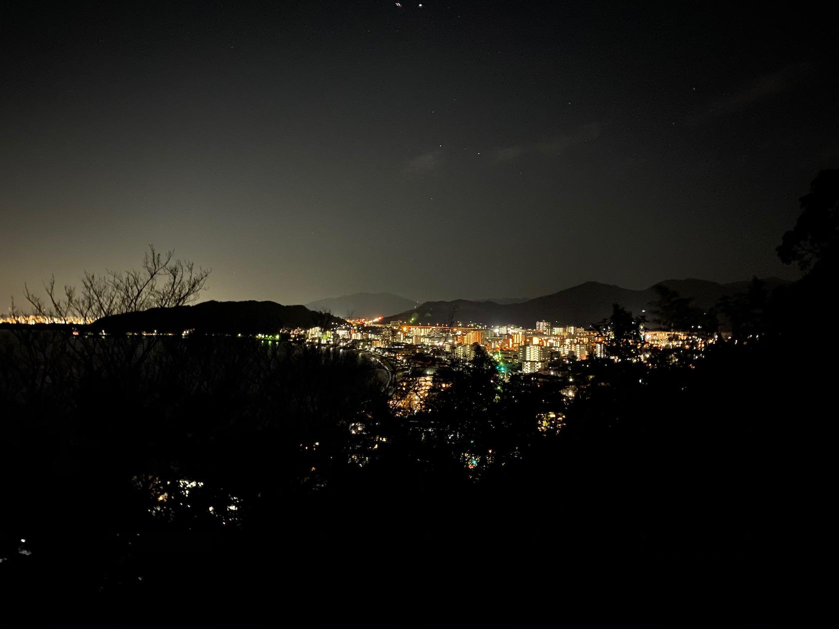今山から見る今宿( iPhone 11 で撮影)