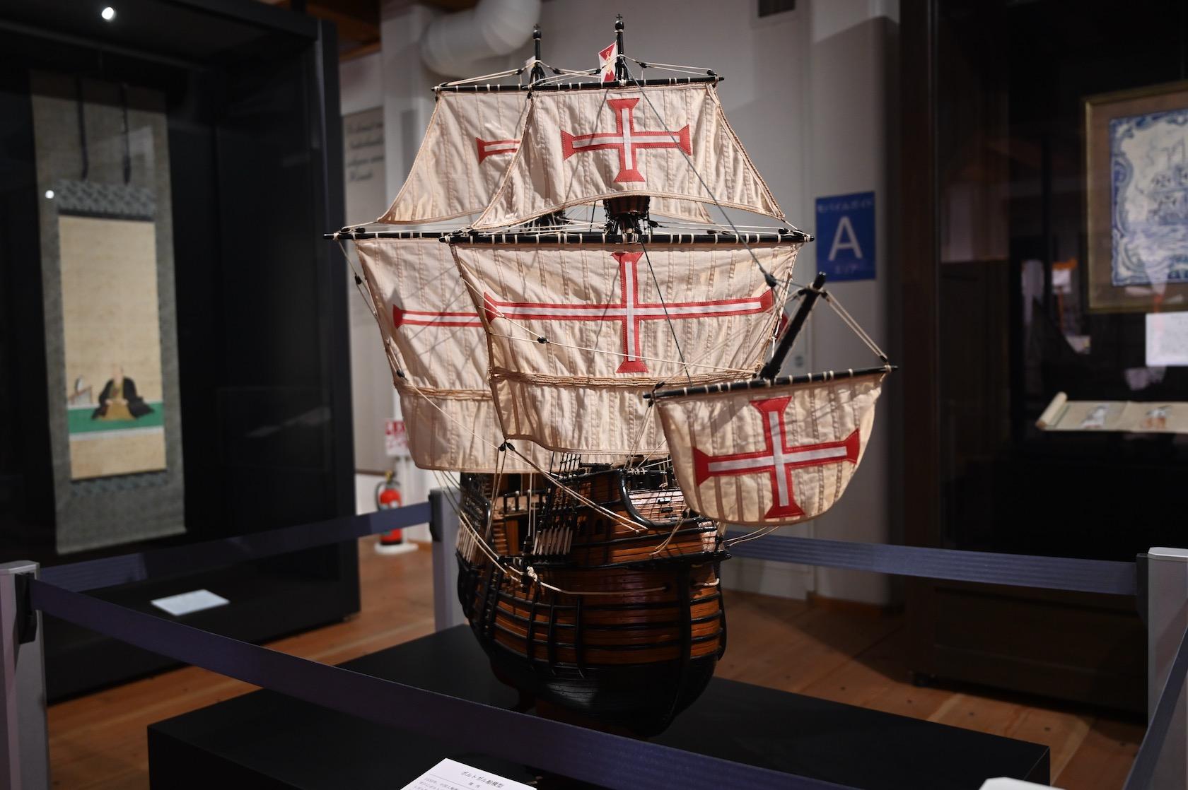 オランダ商館跡の帆船模型