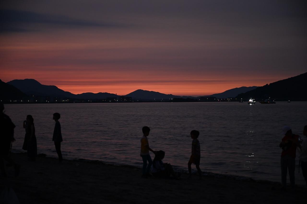 長垂海岸の夕焼け