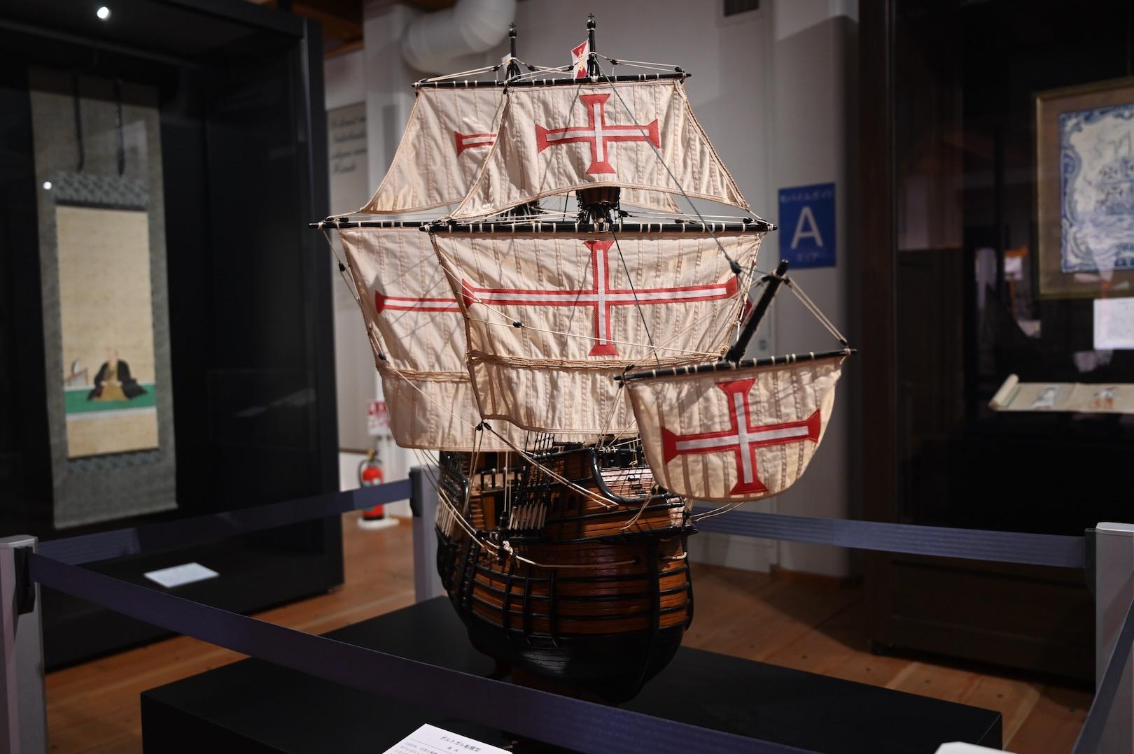 オランダ商館の帆船模型
