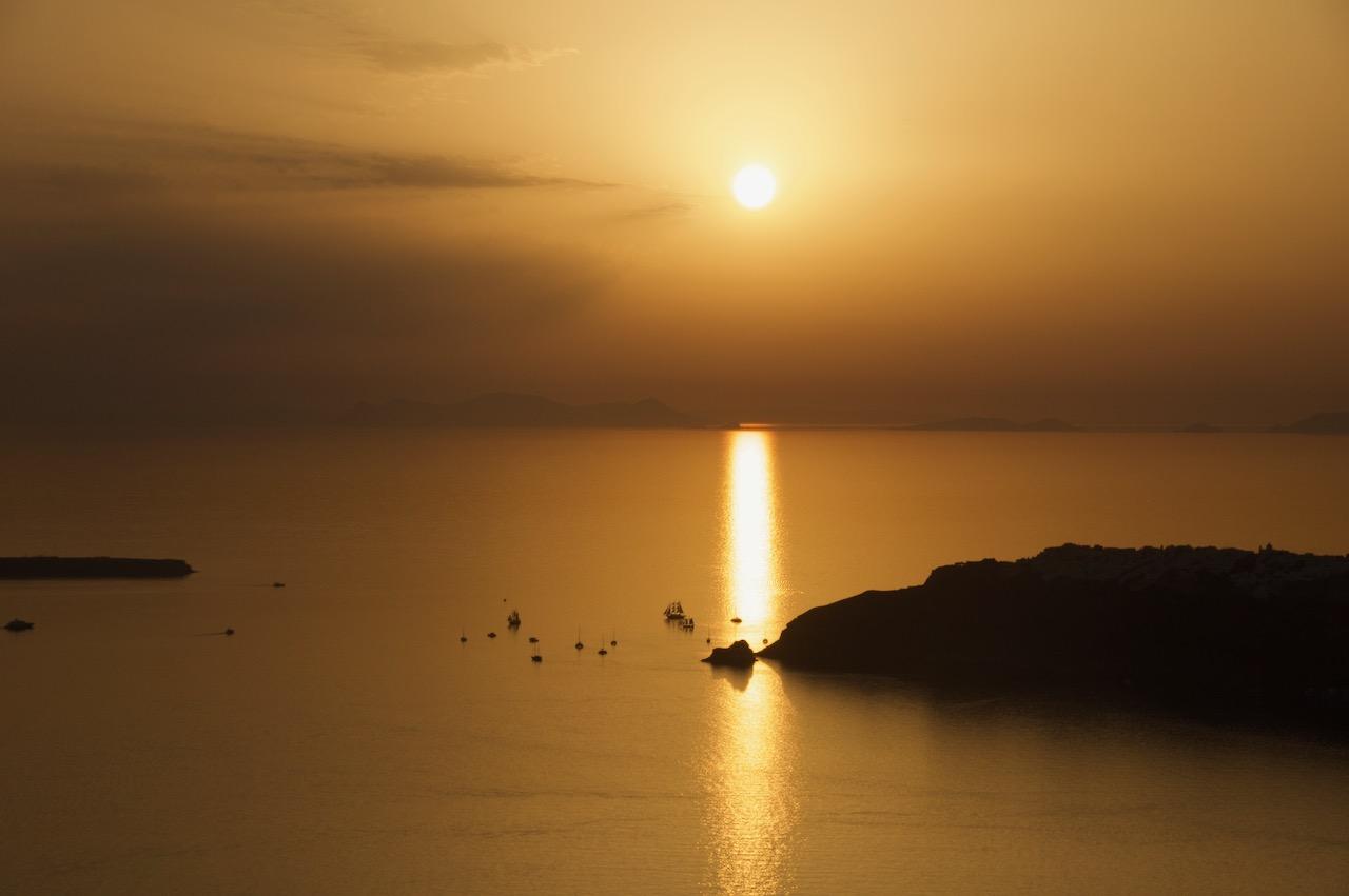 イメロヴィグリの夕日