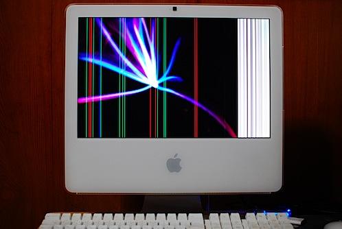 iMacの縦線