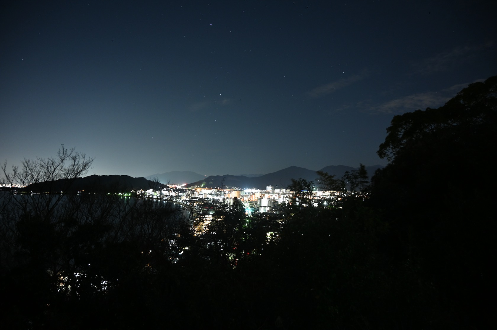 今山から見る今宿( NIKON Z6 で撮影)