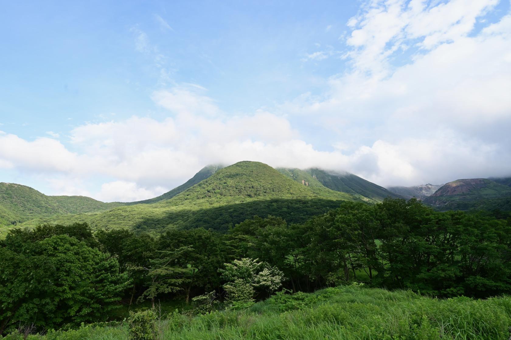 長者原から見る三俣山