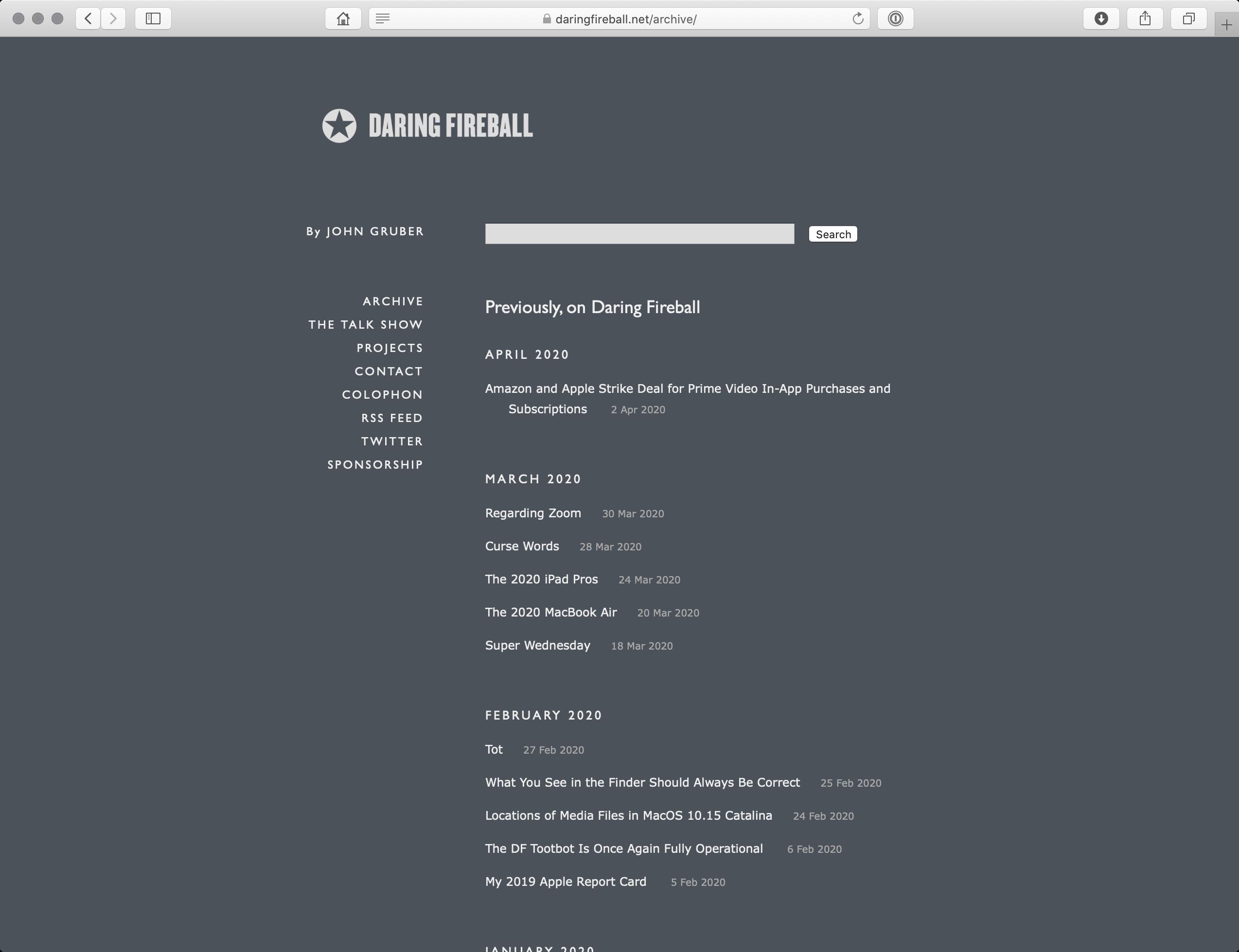 Daring Fireball: Archive